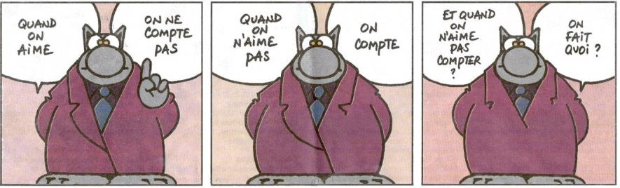 Le chat aime compter